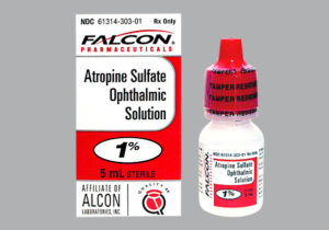 Atropine bottle and box