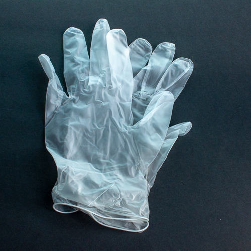 Photo of a pair of surgical gloves.