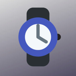 graphic with a watch